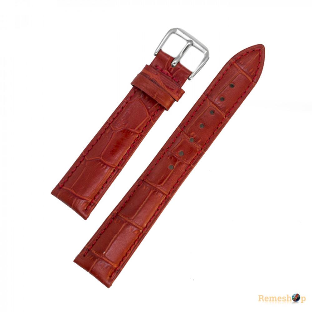 Ремешок кожаный AONO SAN 8801 3988 красный 19 мм