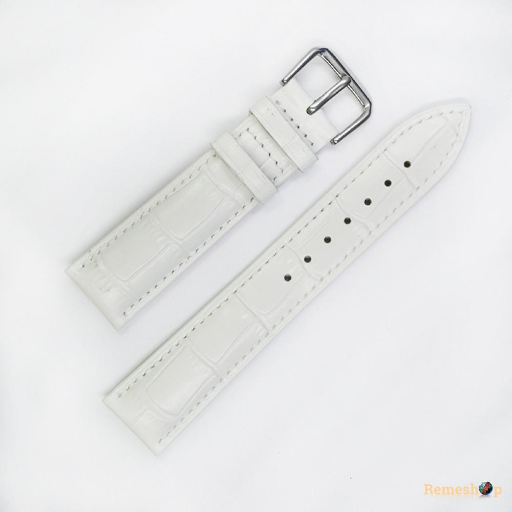 Ремешок кожаный AONO SAN 8801 0310 белый 20 мм