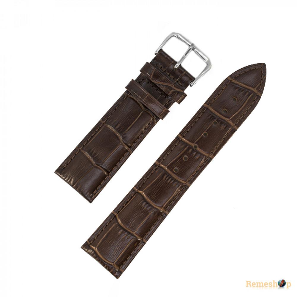 Ремешок кожаный AONO SAN 8801 3940 коричневый темный 19 мм