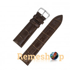 Ремінець шкіряний AONO SAN 8801 3941 коричневий темний 21 мм