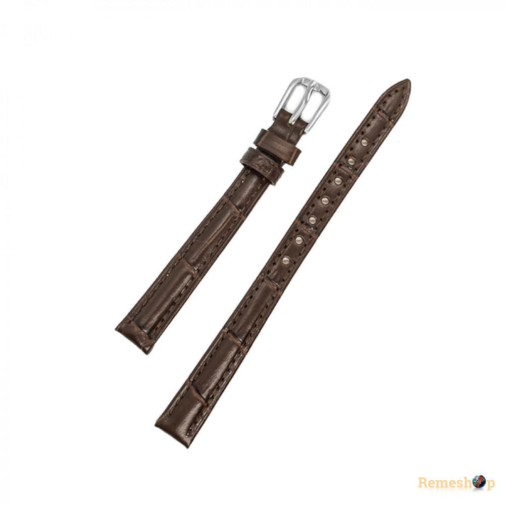 Ремешок кожаный AONO SAN 8801 1347 коричневый темный 12 мм
