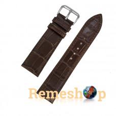 Ремінець шкіряний AONO 3937 коричневий темний 21 мм