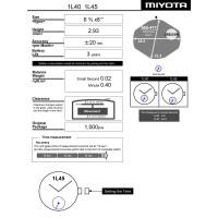 Часовой механизм MIYOTA 1L40