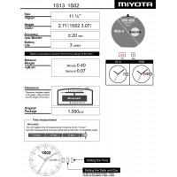 Часовой механизм MIYOTA 1S02