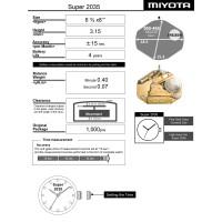 Часовой механизм MIYOTA 2035 SUPER