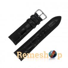 Ремінець шкіряний AONO SAN 8801 0144 чорний 18 мм