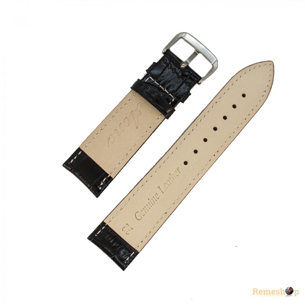 Ремешок кожаный AONO SAN 8801 3953 черный 23 мм