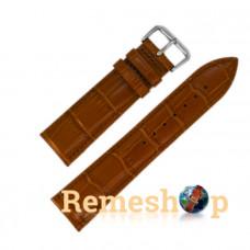 Ремінець шкіряний AONO SAN 8801 3991 коричневий 21 мм