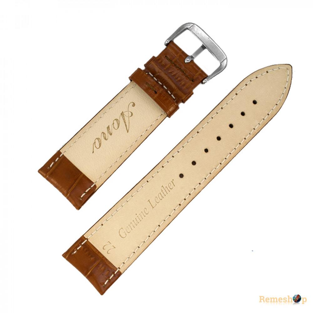 Ремешок кожаный AONO SAN 8801 1828 коричневый 24 мм