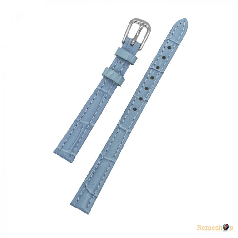 Ремешок кожаный AONO SAN 8801 3109 голубой 12 мм