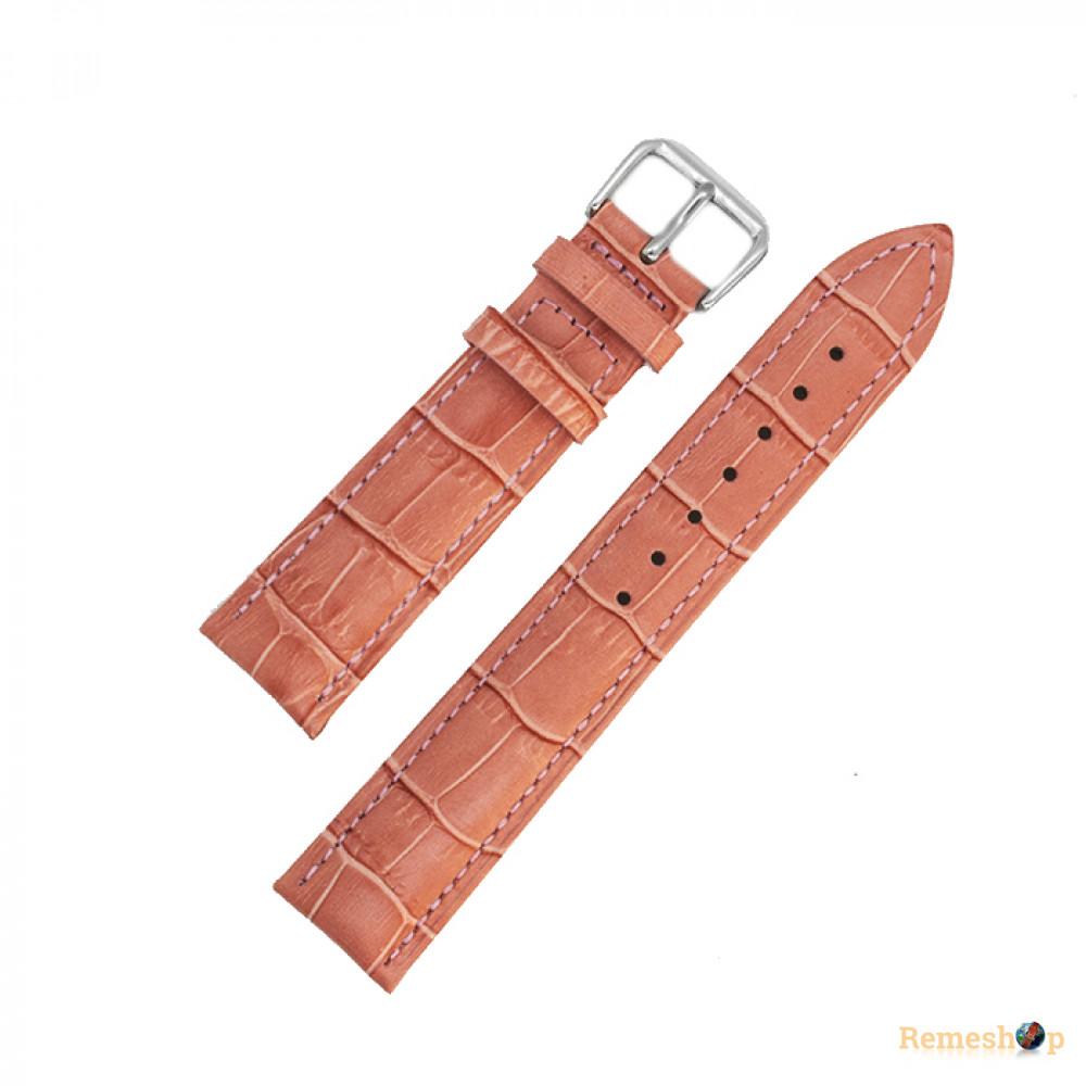 Ремешок кожаный AONO SAN 8801 3127 коралловый 20 мм