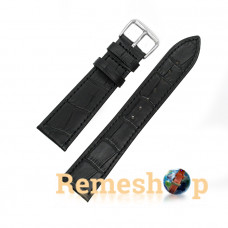 Ремінець шкіряний AONO 3951 чорний 21 мм