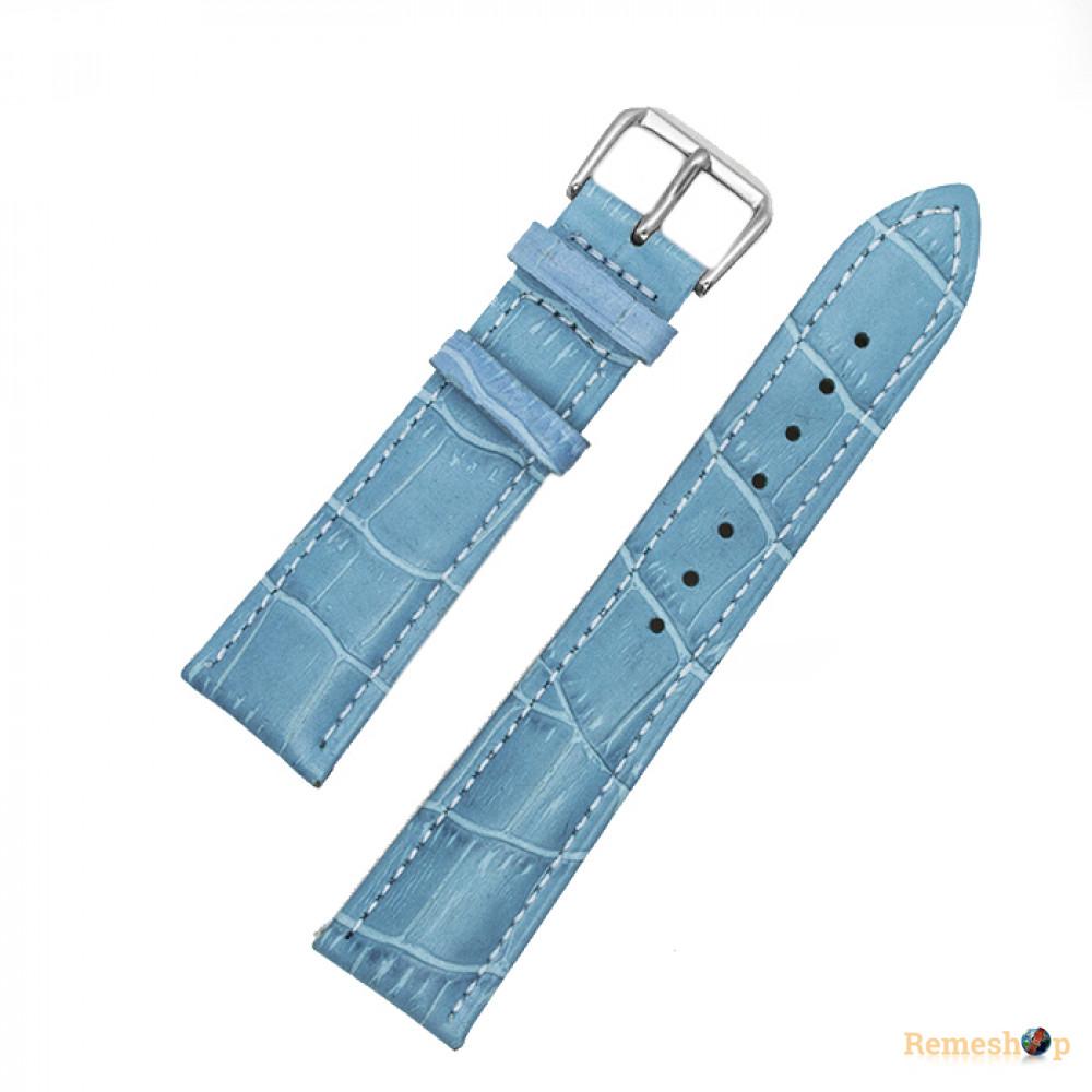 Ремешок кожаный AONO SAN 8801 0622 голубой 24 мм