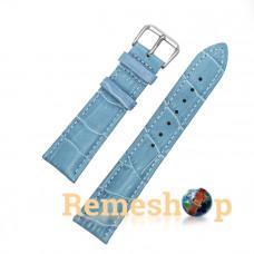 Ремінець шкіряний AONO SAN 8801 3961 блакитний 21 мм
