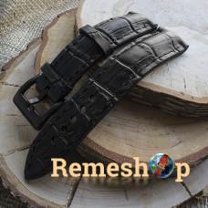 Ремешок Remeshop® Custome Crazy-Croc черный 22 мм арт.5100
