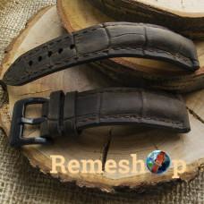 Ремешок Remeshop® Custome Crazy-Croc коричневый темный 22 мм арт.5112