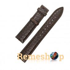 Ремешок кожаный натуральный аллигатор RATE коричневий 18 мм арт.5123
