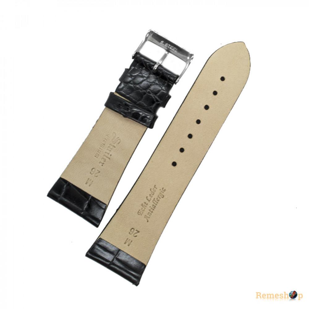 Ремешок кожаный STAILER 2290 черный 26 мм