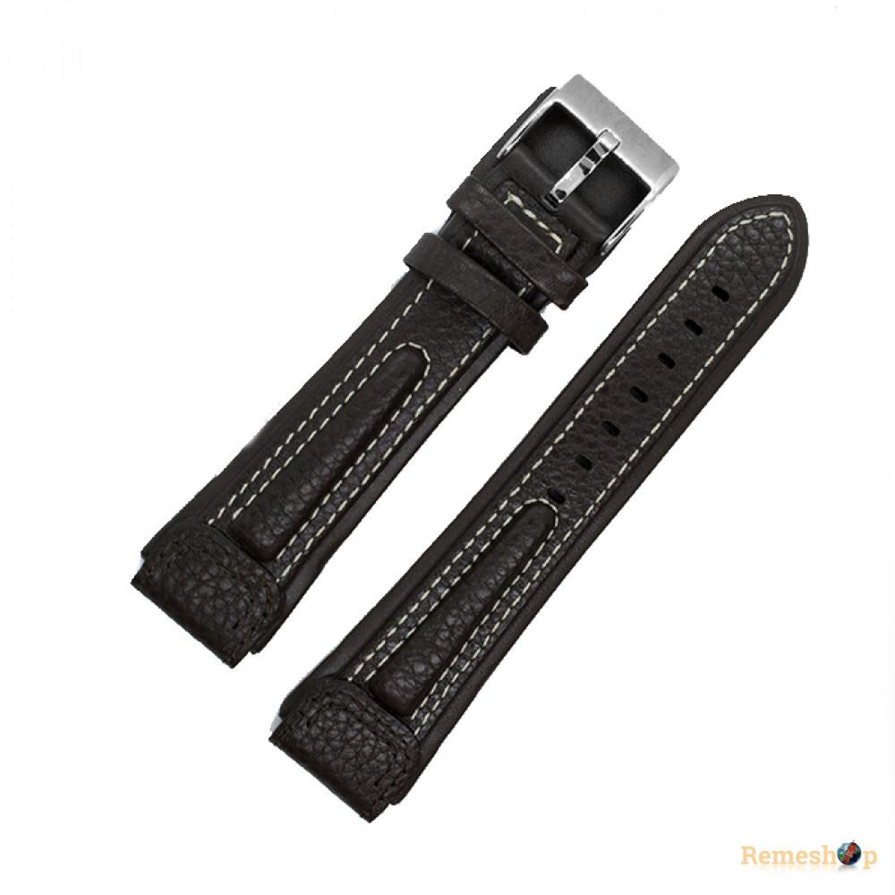 Ремешок кожаный STAILER 2342 коричневый темный 20 мм