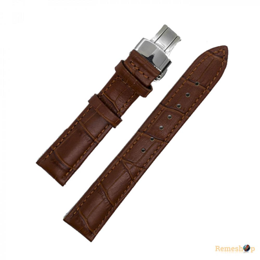 Ремешок кожаный HIHGTONE SH310С 3262 коричневый 18 мм