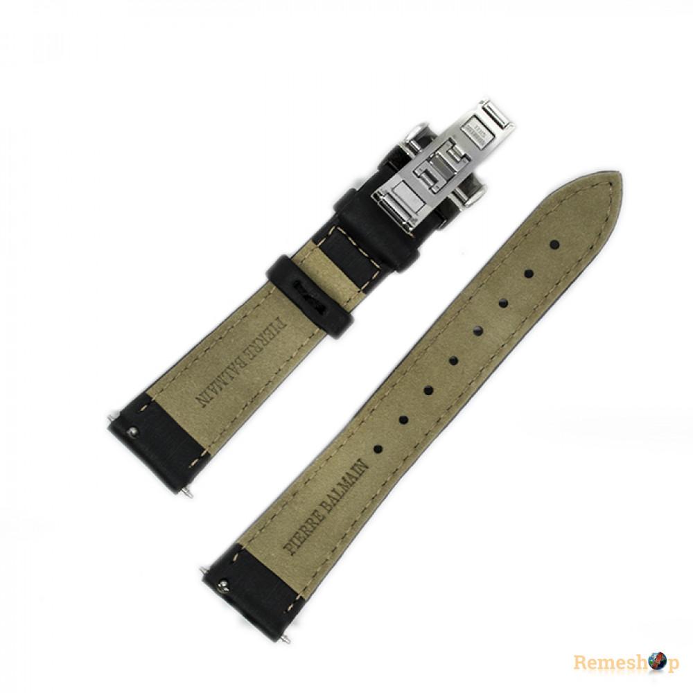 Ремешок кожаный BALMAIN 2626 черный 18 мм