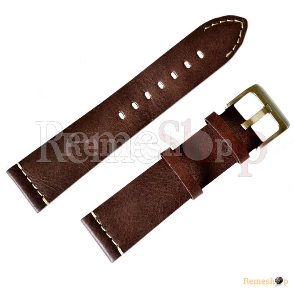 Ремешок кожаный CHERMOND 591 коричневый 22 мм