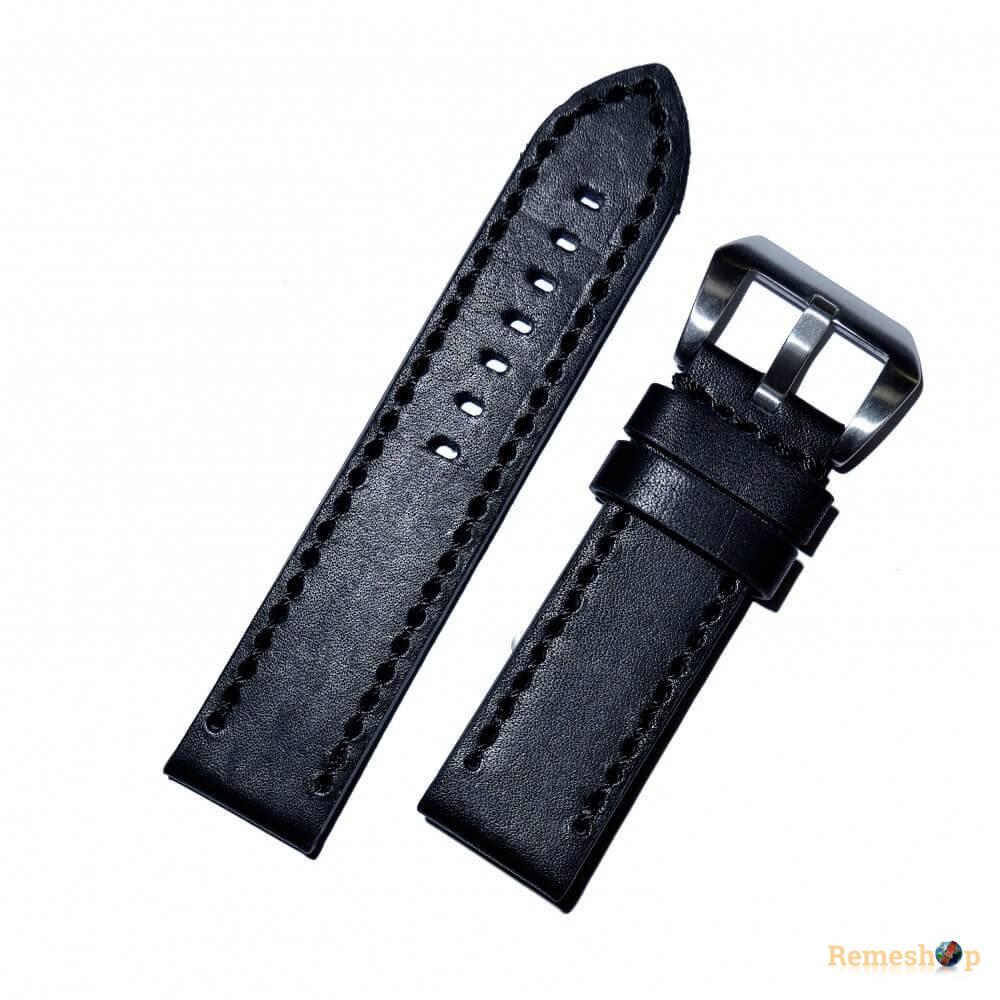 Ремешок кожаный Slava® PANERAI-70 4209 черный 20 мм