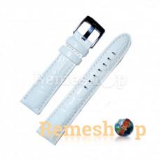 Лаковый ремешок кожаный VERSUS 2749 белый 18 мм