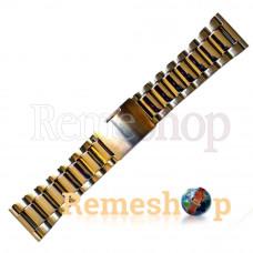 Браслет стальной BANDCO 2001 комбинированый 28 мм