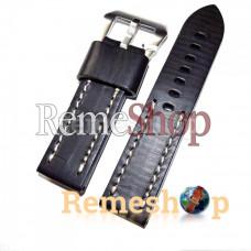 Ремешок кожаный BANDA 1814 черный 22 мм