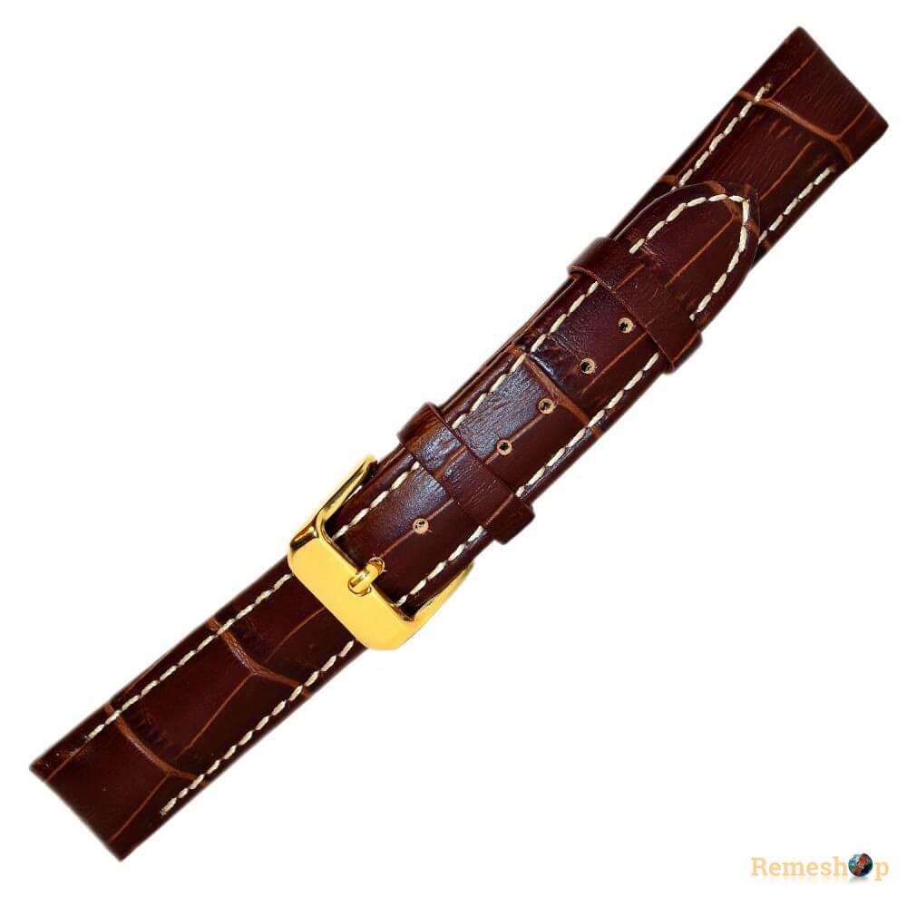 Ремешок кожаный BANDCO 207 коричневый 18 мм