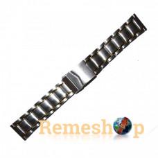 Браслет стальной INOX 3488 комбинированый 22 мм