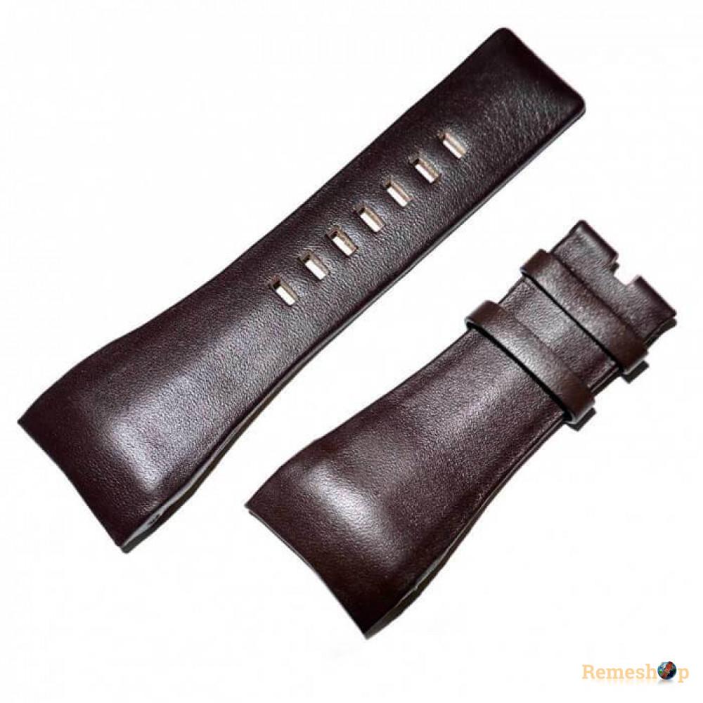 Ремешок кожаный DIESEL 6025 коричневый темный 32 мм