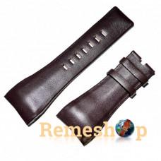 Ремінець шкіряний DIESEL 6025 коричневий темний 32 мм
