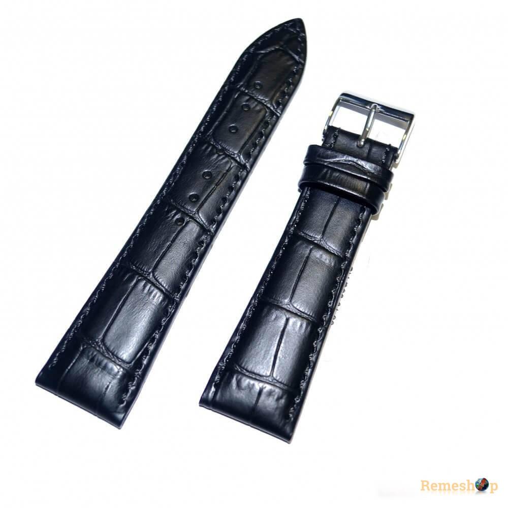 Ремешок кожаный Slava® 2566 черный 18 мм