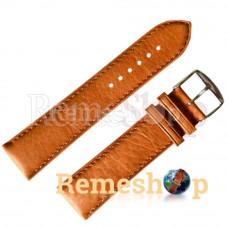 Ремешок кожаный ALFA SLF-001 0554 коричневый светлый 22 мм