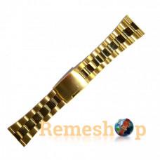 Браслет стальной INOX 3460 <<ЗОЛОТО>> 26 мм