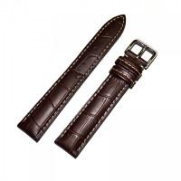 Ремешок кожаный Slava® 3051 коричневый 18 мм
