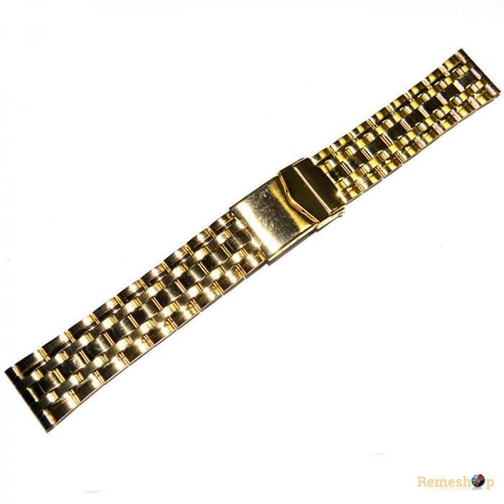 Браслет стальной INOX 3466 <<ЗОЛОТО>> 20 мм