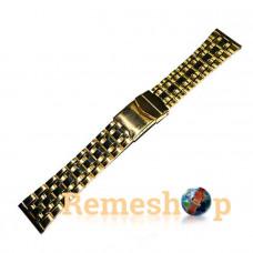 Браслет стальной INOX 3467 <<ЗОЛОТО>> 22 мм