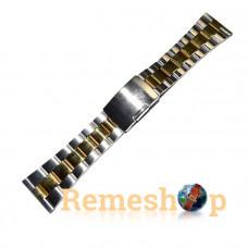 Браслет стальной INOX 3477 комбинированый 24 мм