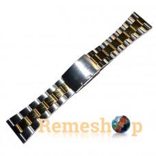 Браслет стальной INOX 3478 комбинированый 26 мм