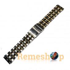 Браслет стальной INOX 3479 комбинированый 20 мм