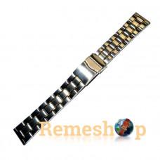 Браслет стальной INOX 3481 комбинированый 20 мм