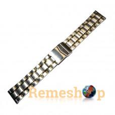 Браслет стальной INOX 3487 комбинированый 22 мм