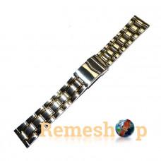 Браслет стальной INOX 3493 комбинированый 20 мм