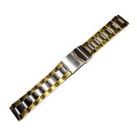 Браслет сталевий INOX 3539 комбінований 18 мм