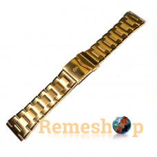 Браслет сталевий INOX 3547 << ЗОЛОТО >> 24 мм