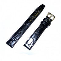 Ремешок кожаный Slava® 3061 черный 12 мм