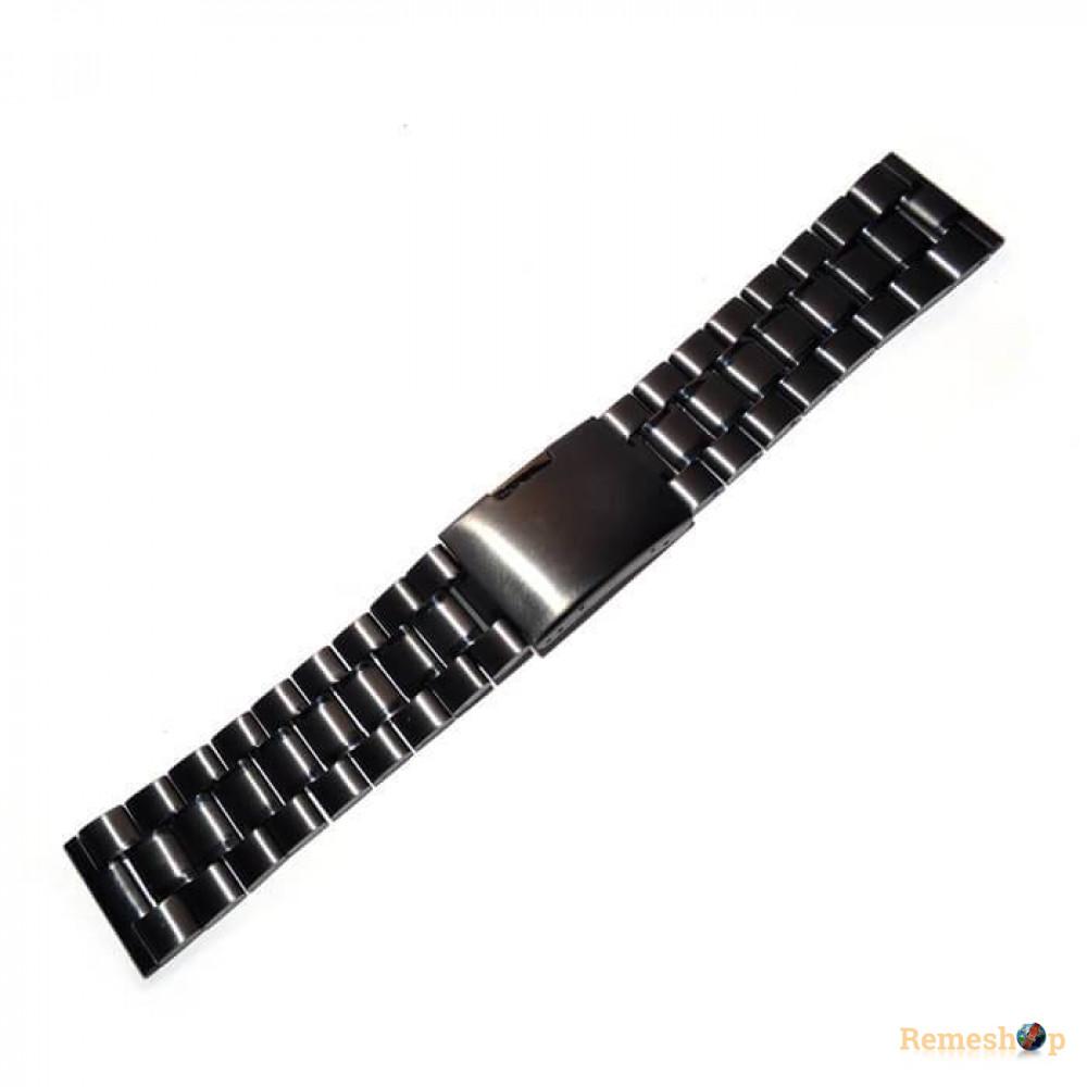 Браслет сталевий Slava® 3790 чорний 20 мм